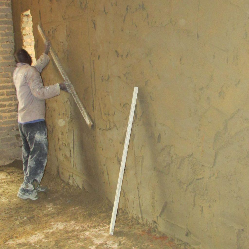 Inside wall plastering in progress_12