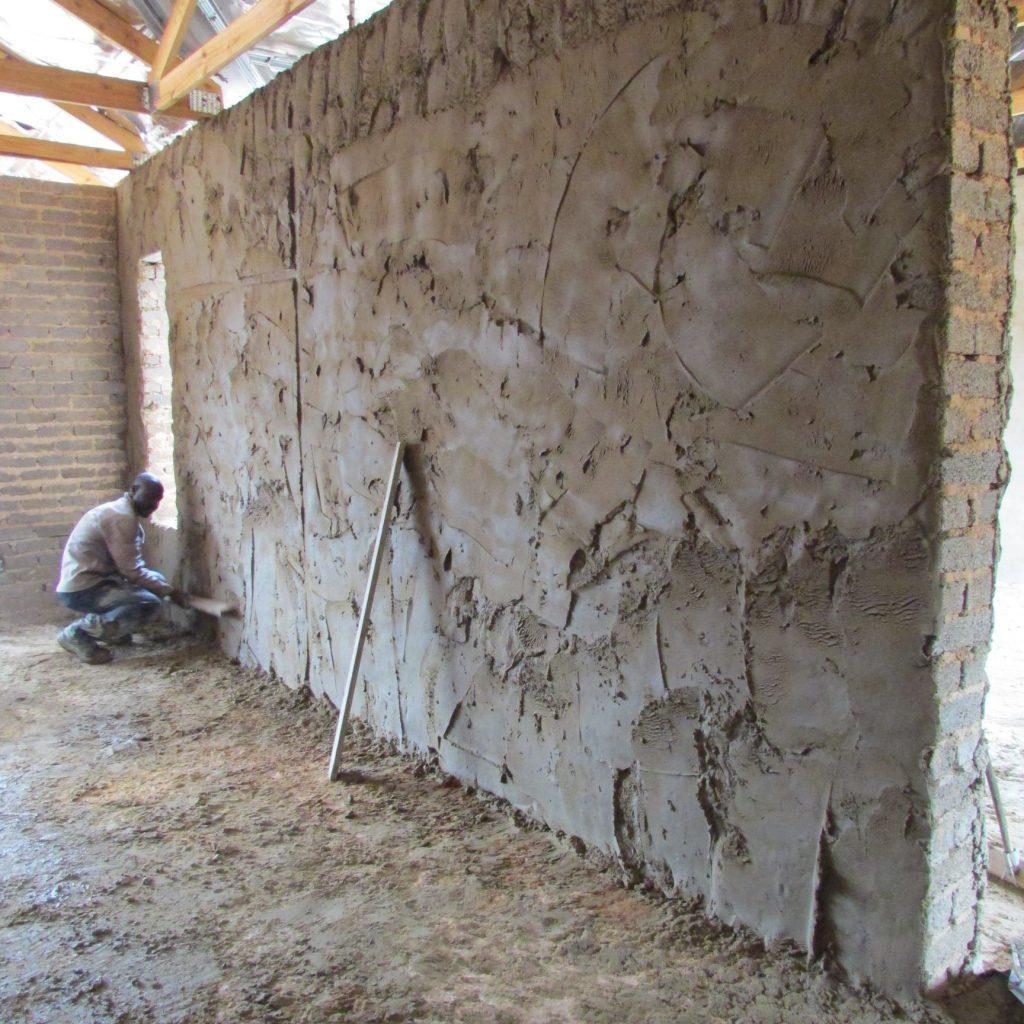 Inside wall plastering in progress_14