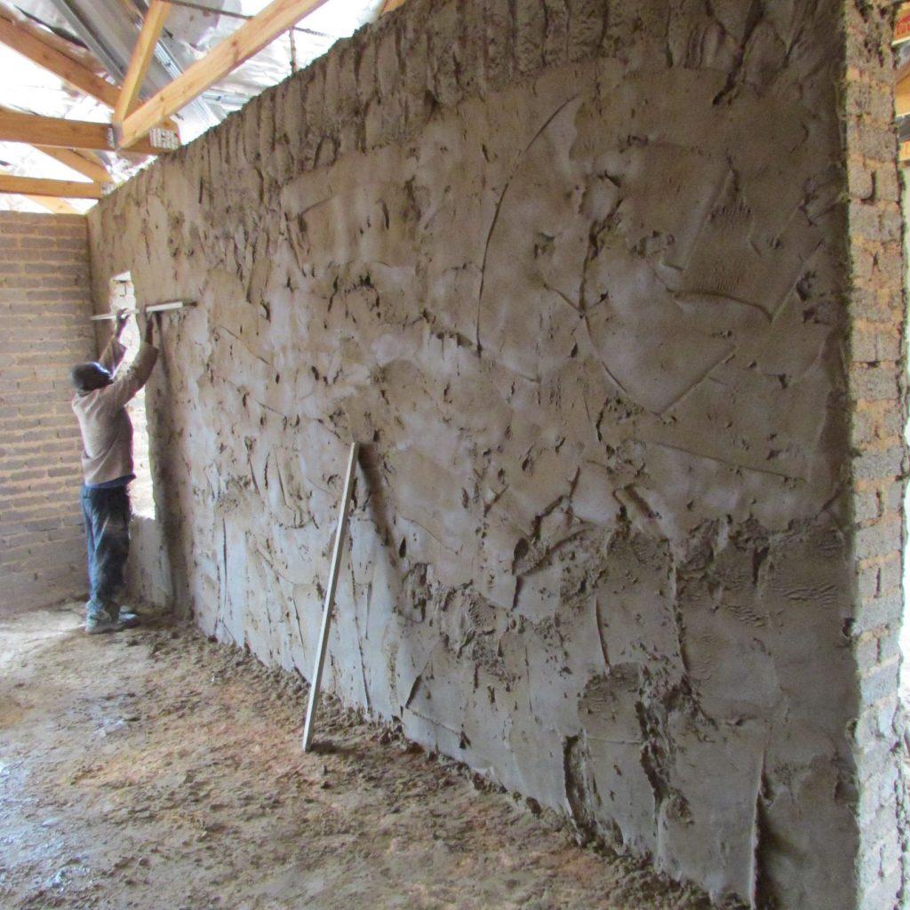 Inside wall plastering in progress_16