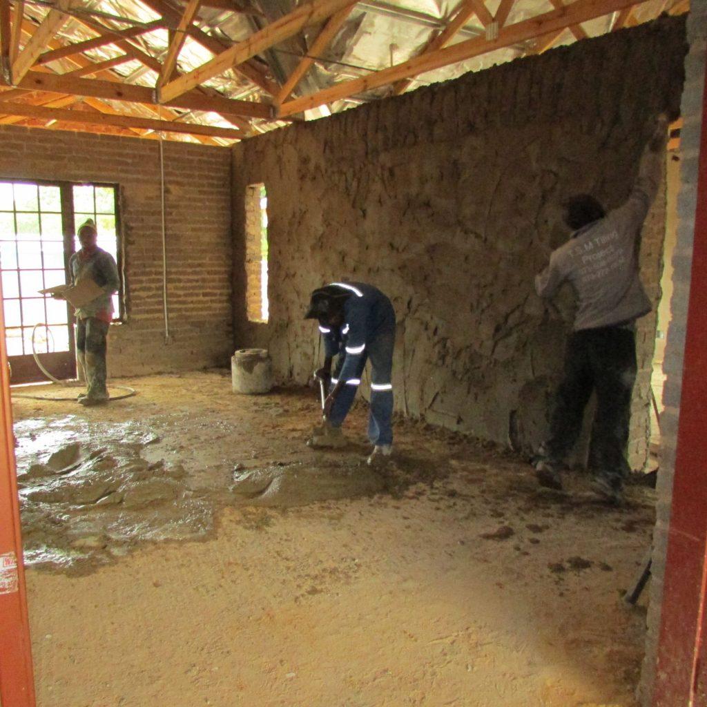 Inside wall plastering in progress_21