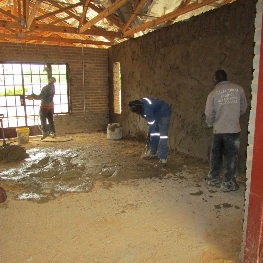 Inside wall plastering in progress_22