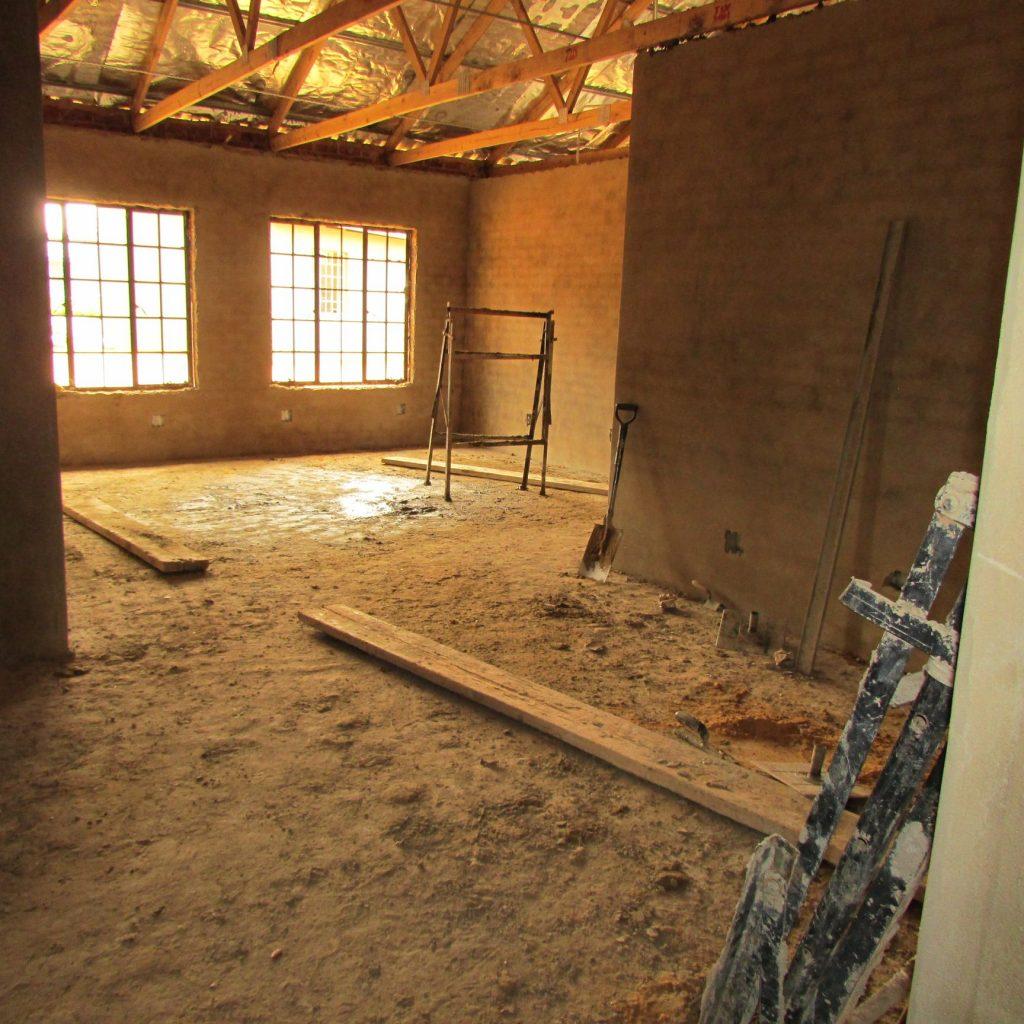 Inside wall plastering in progress_30