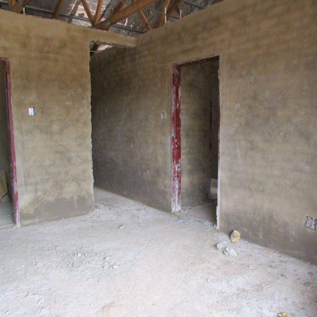 Inside wall plastering in progress_32