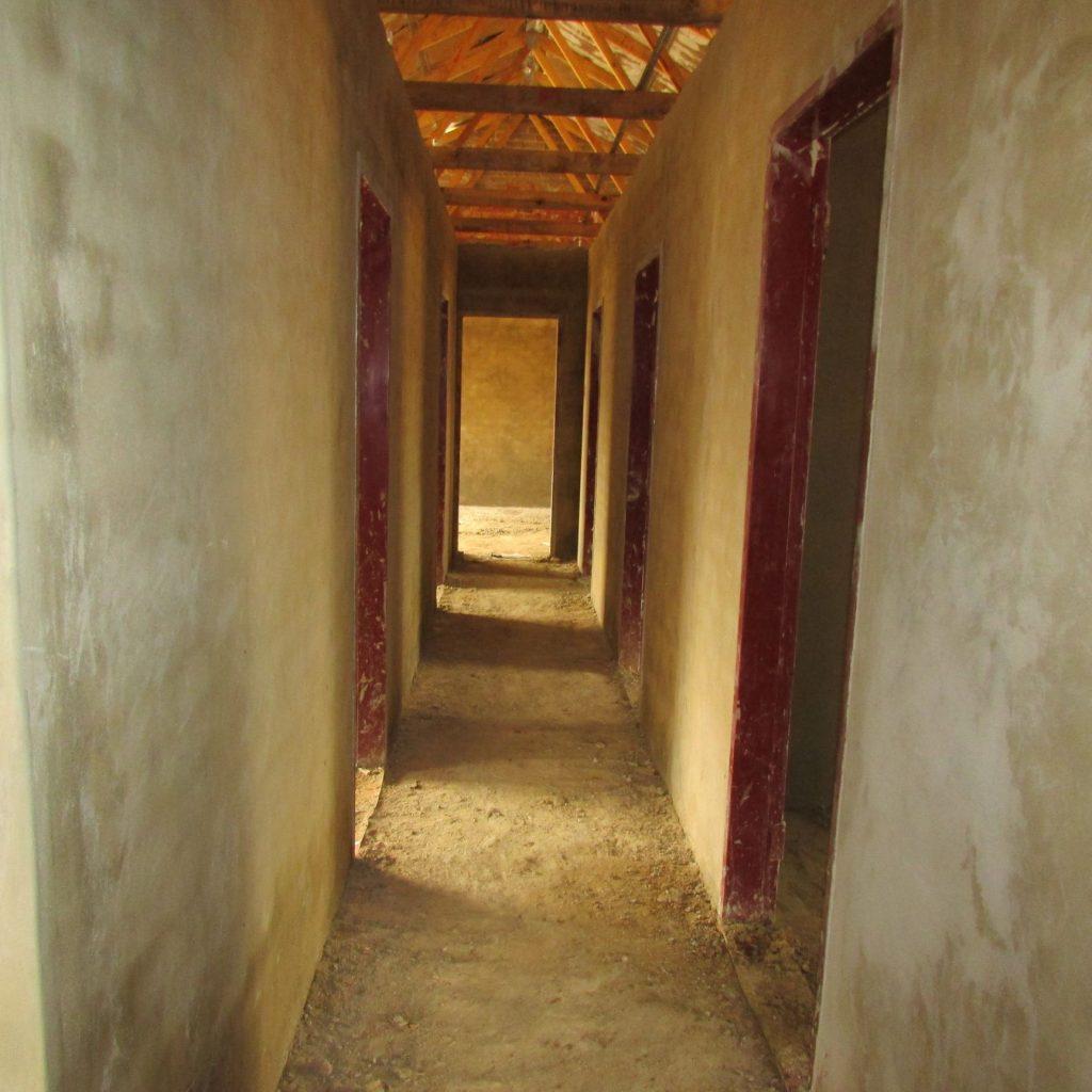 Inside wall plastering in progress_40