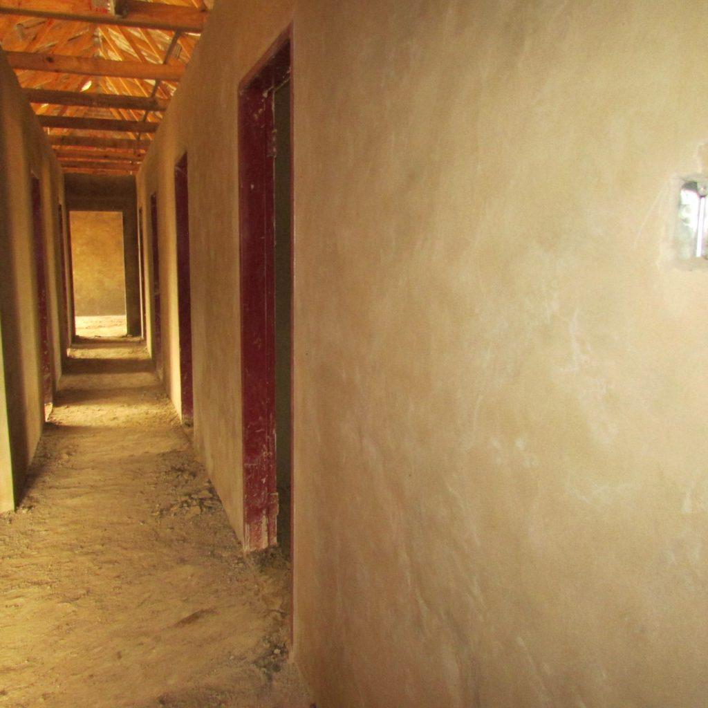Inside wall plastering in progress_41
