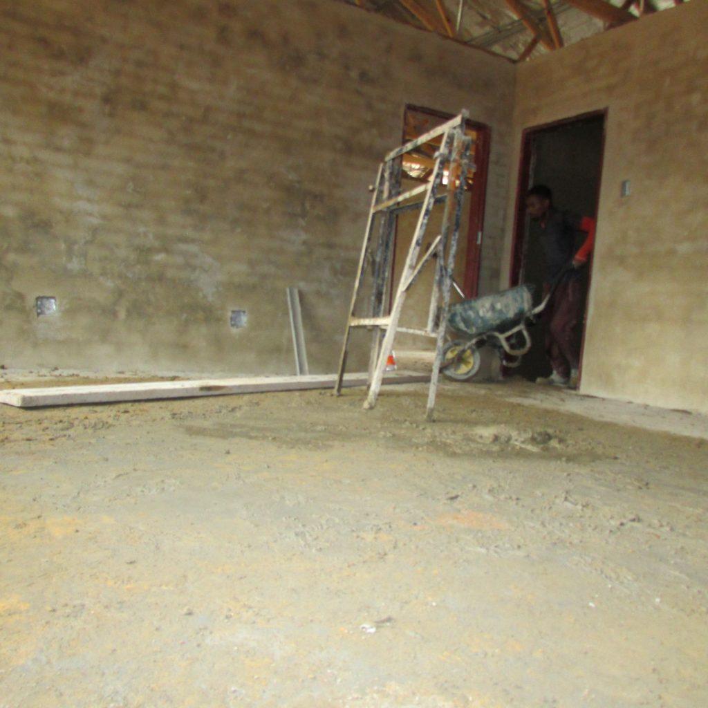 Inside wall plastering in progress_43