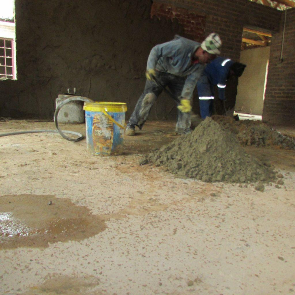 Inside wall plastering in progress_46