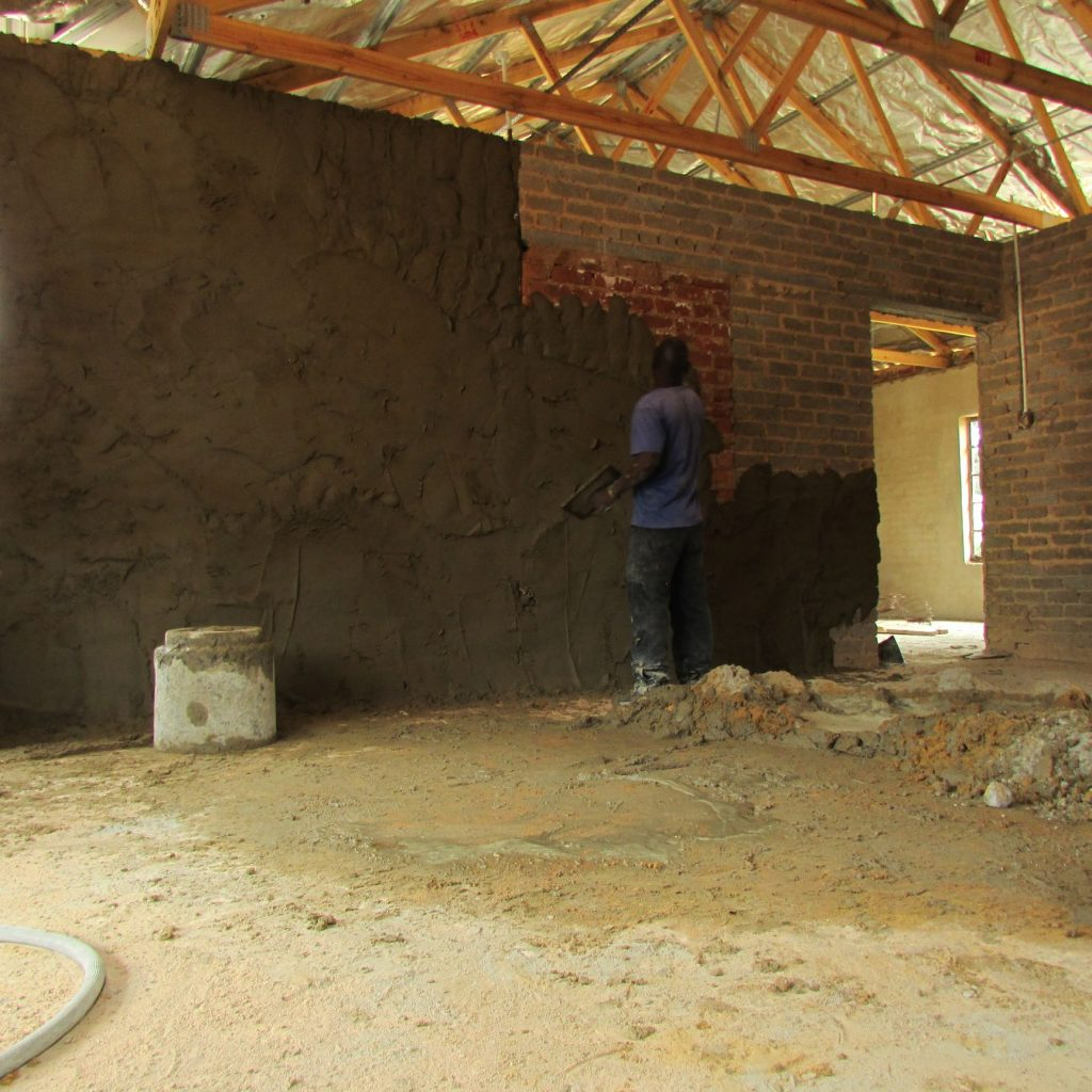 Inside wall plastering in progress_56