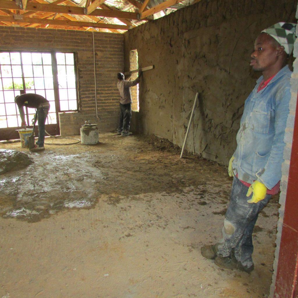 Inside wall plastering in progress_8