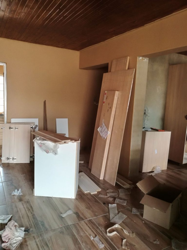 Kitchen installation progress
