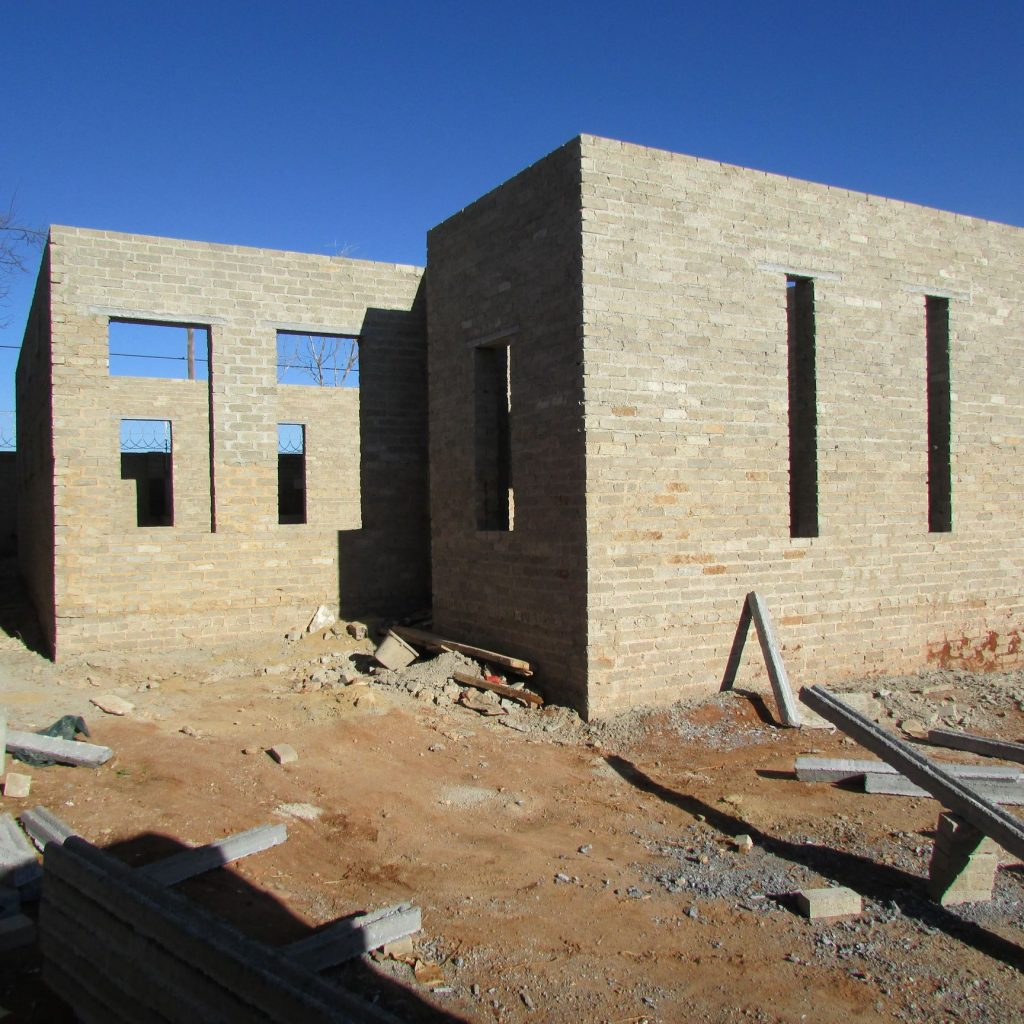 Completed brick work _111