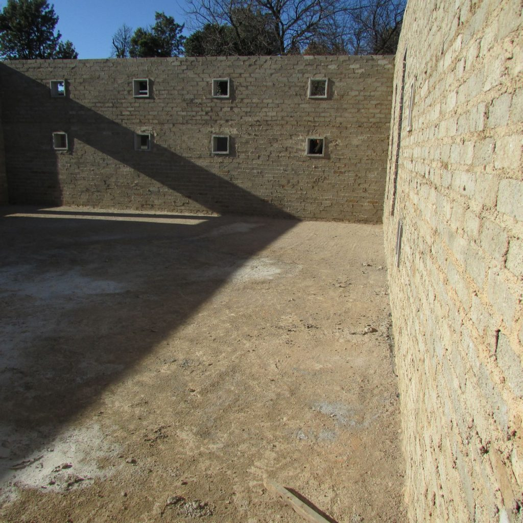 Completed brick work _75