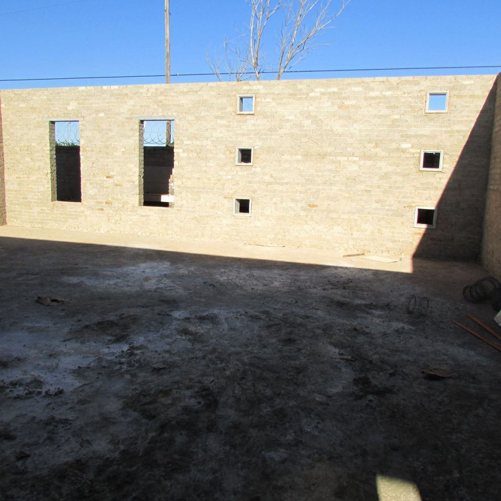 Completed brick work _78