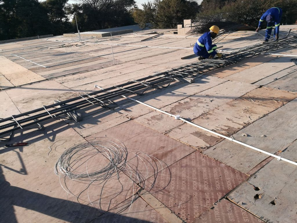 Reinforcing the slab_110