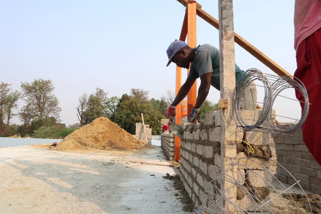 Second storey brick work_school_13
