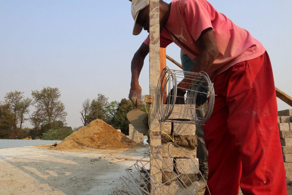 Second storey brick work_school_14