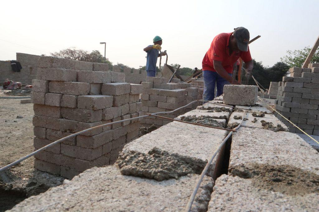 Second storey brick work_school_15