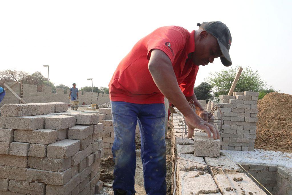 Second storey brick work_school_16
