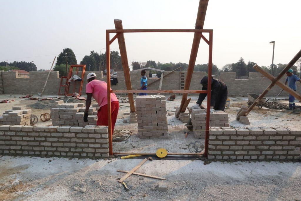 Second storey brick work_school_20