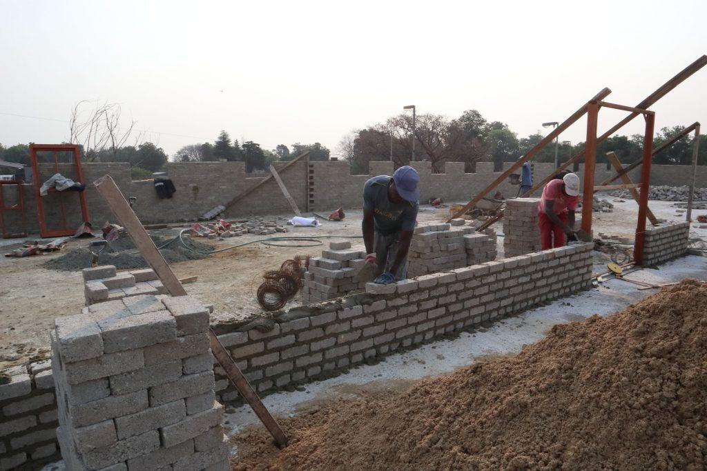 Second storey brick work_school_22