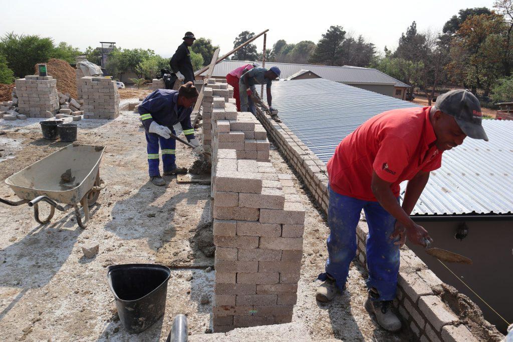 Second storey brick work_school_30