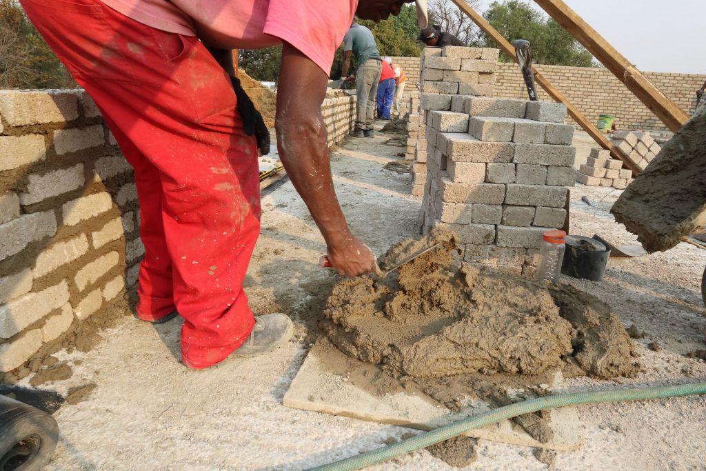 Second storey brick work_school_5