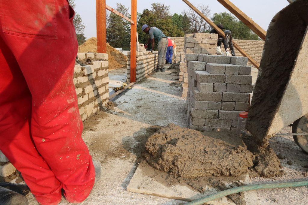 Second storey brick work_school_6