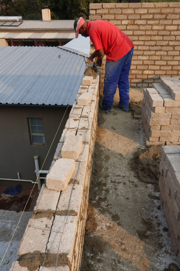 Second storey brick work_school_7