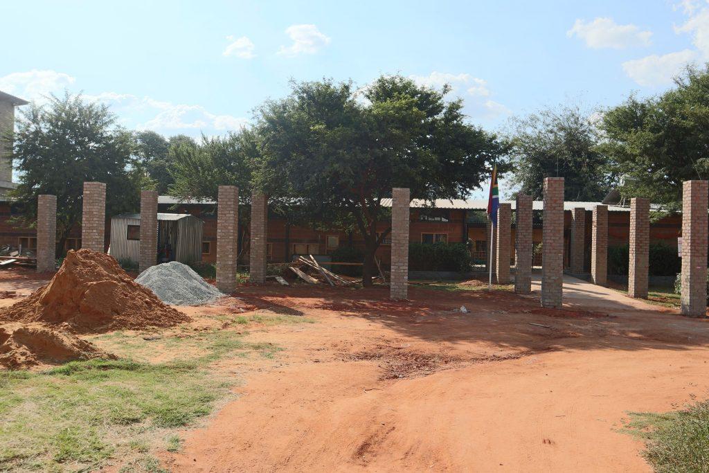 Pillars of the school building