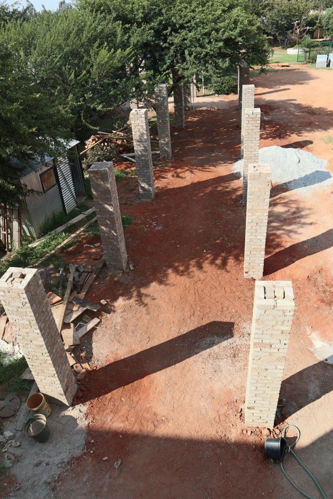 Pillars of the school building_10