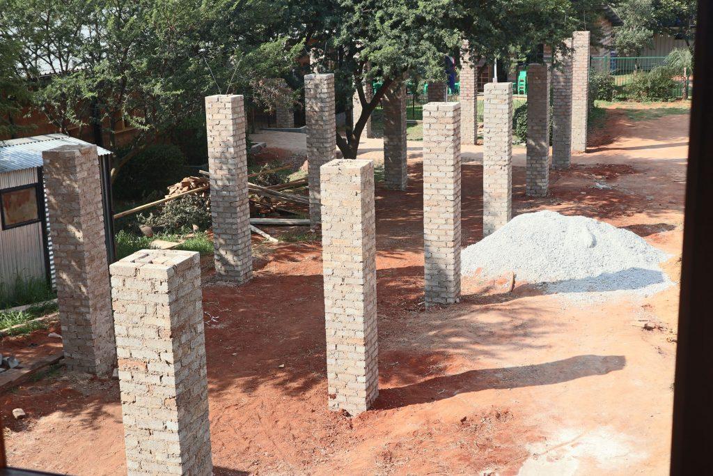 Pillars of the school building_12