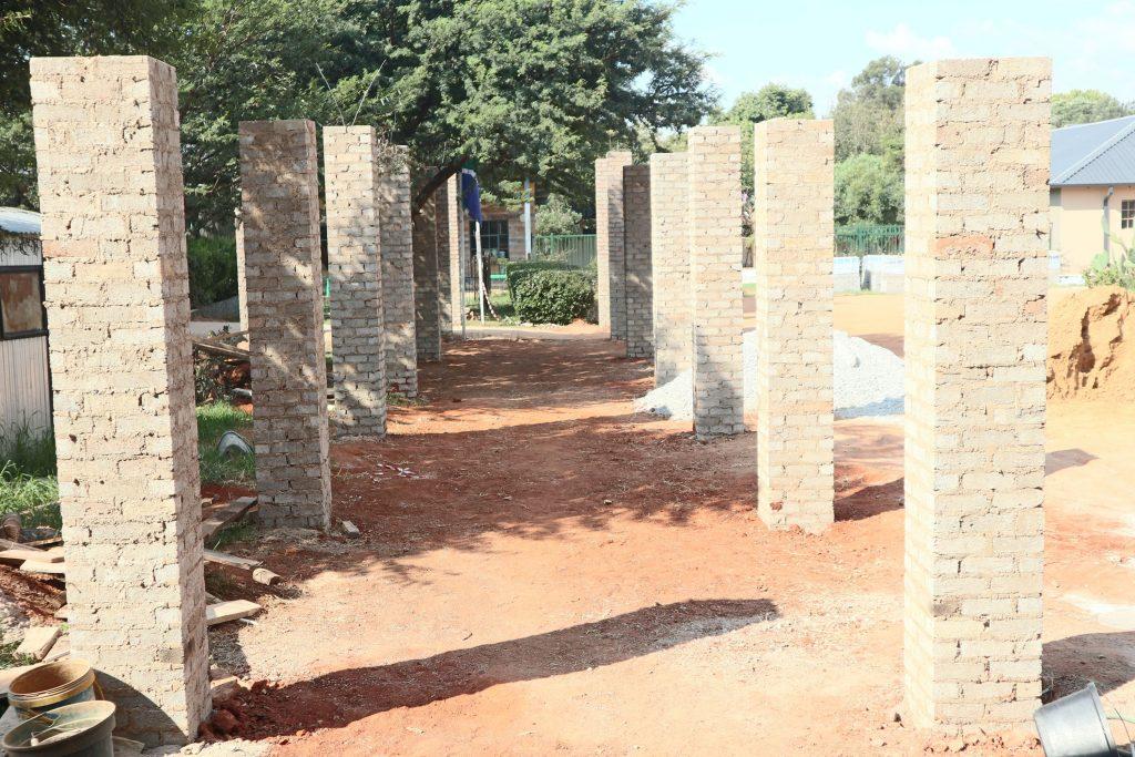 Pillars of the school building_13