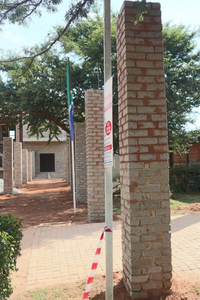 Pillars of the school building_17