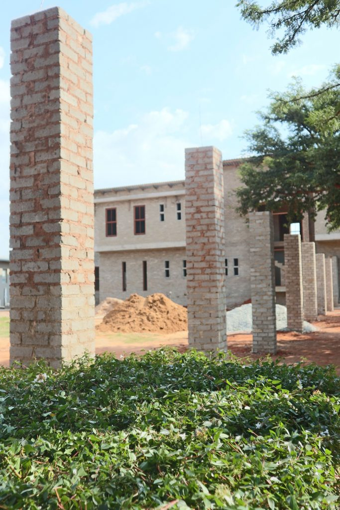 Pillars of the school building_18