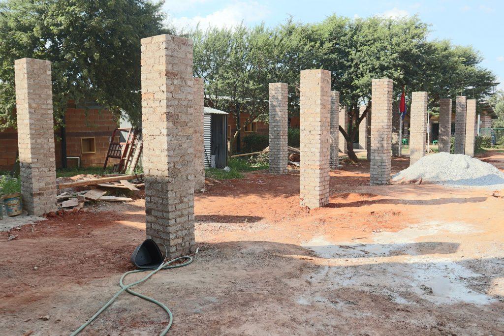 Pillars of the school building_2
