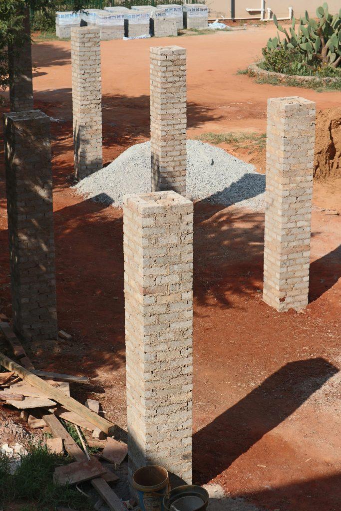 Pillars of the school building_6