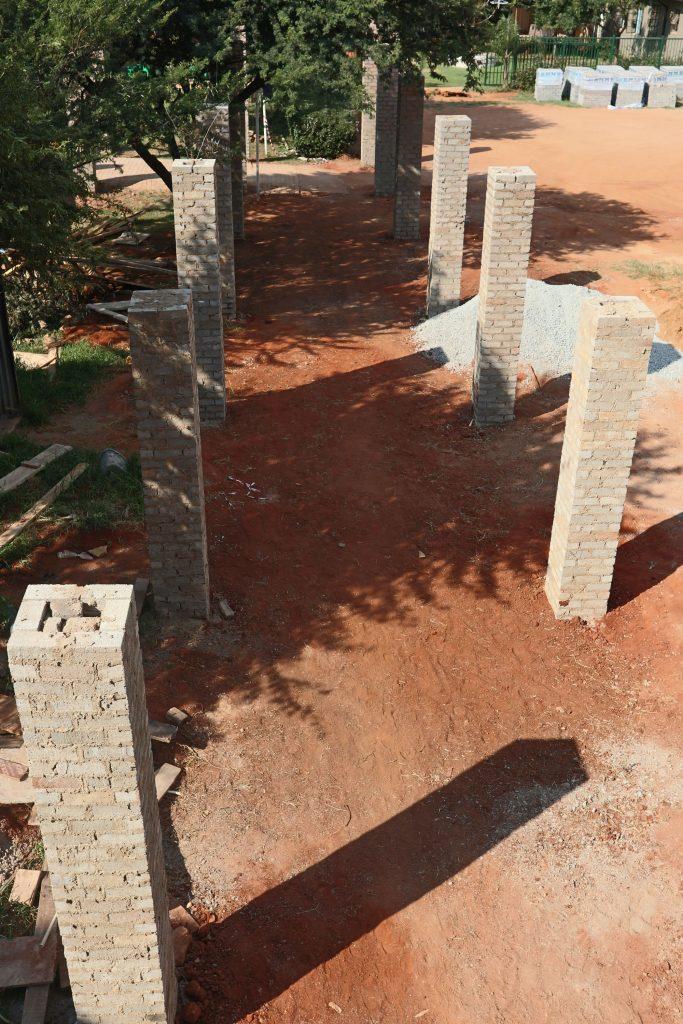 Pillars of the school building_8