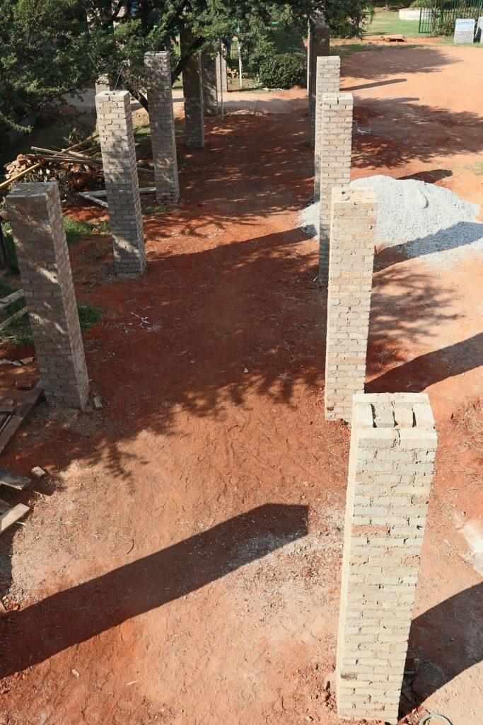 Pillars of the school building_9