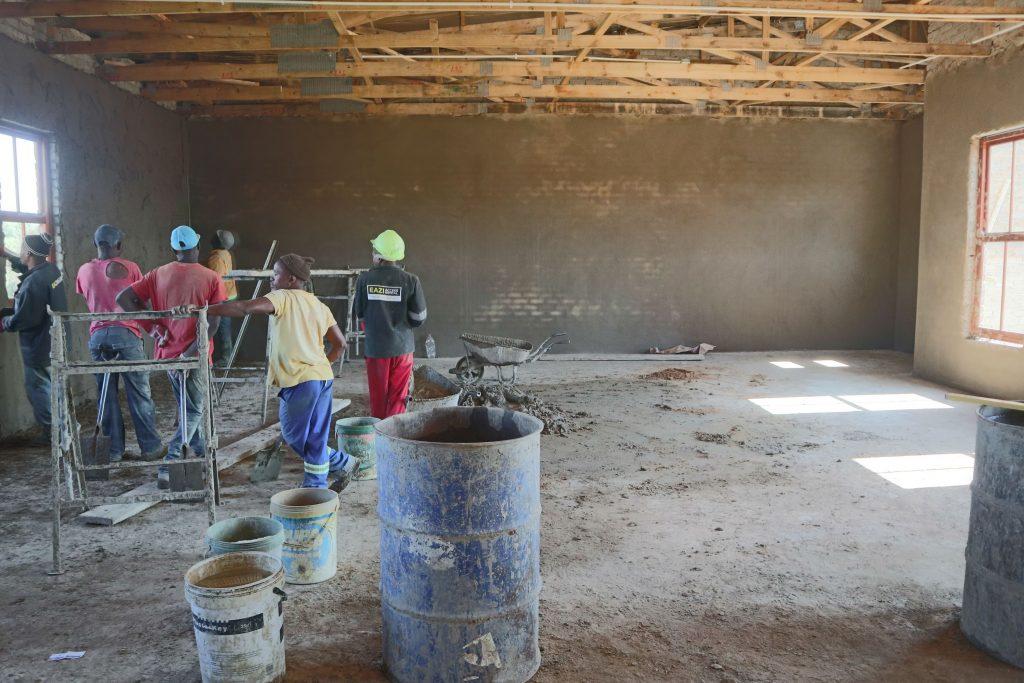 Plastering progress_5